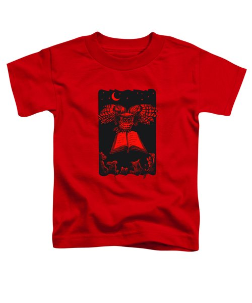 Owl And Friends Redblack Toddler T-Shirt
