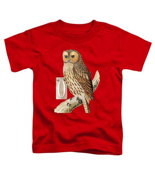 Owl T Shirt Design Toddler T-Shirt by Bellesouth Studio