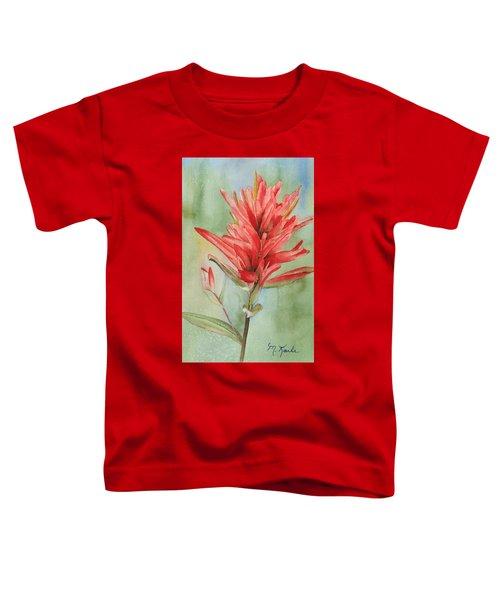 Paintbrush Portrait Toddler T-Shirt