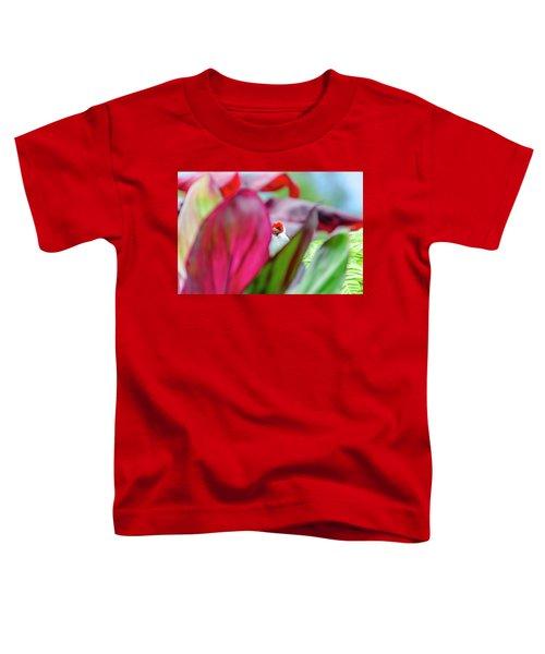 Peeking Between The Leaves Toddler T-Shirt