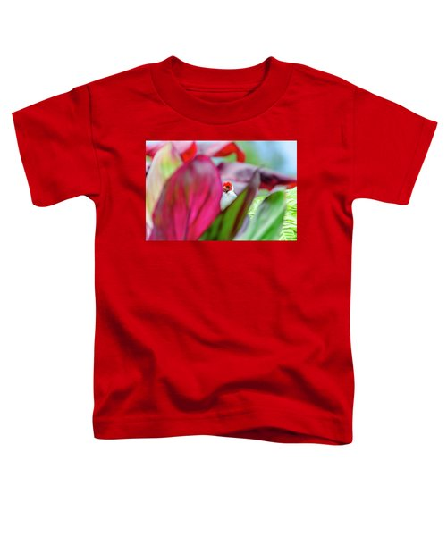 Peeking Between The Leaves Toddler T-Shirt