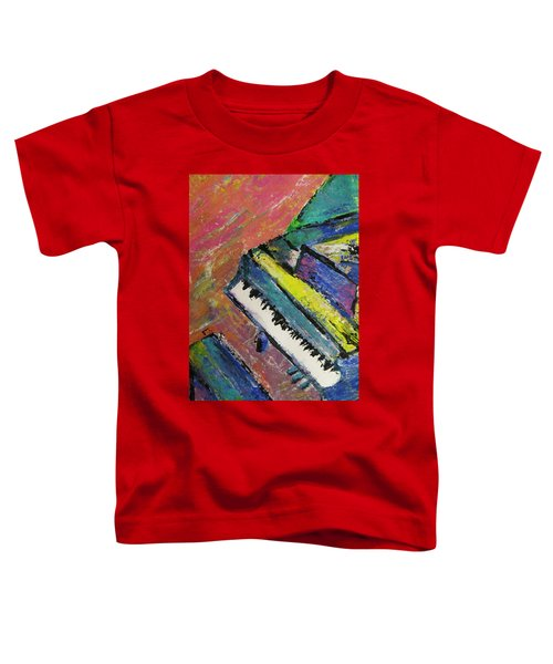 Piano With Yellow Toddler T-Shirt