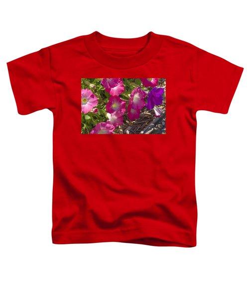 Pink And Purple Petunias Toddler T-Shirt