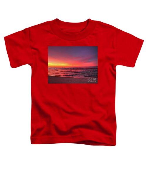 Pink Lbi Sunrise Toddler T-Shirt