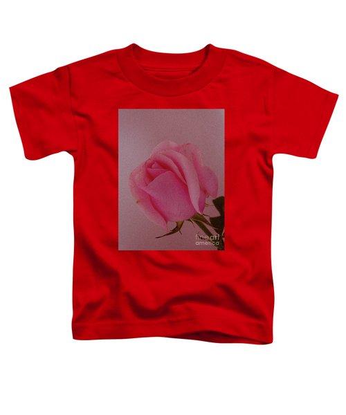 Pink Single Rose Toddler T-Shirt