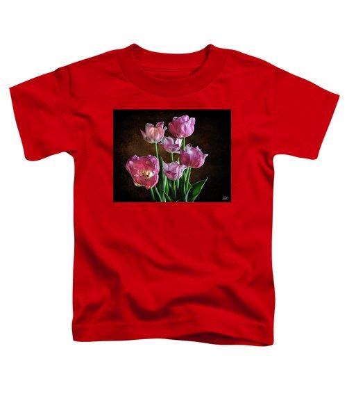 Pink Tulips Toddler T-Shirt