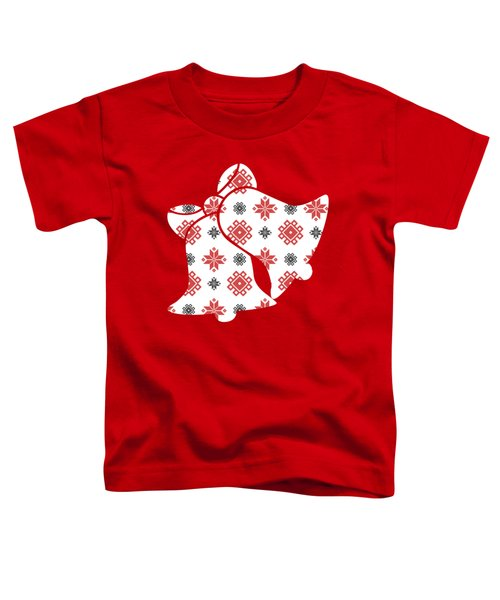 Pixel Christmas Pattern Toddler T-Shirt