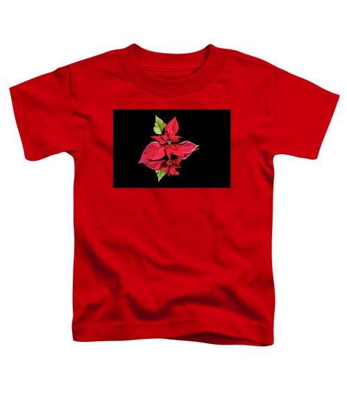 Poinsettia Reflection  Toddler T-Shirt