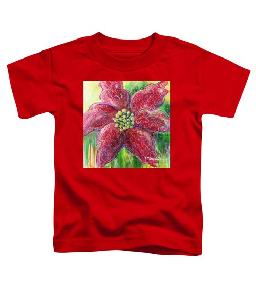 Poinsettia Toddler T-Shirt