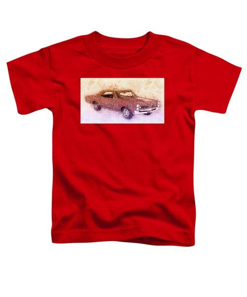 Pontiac Gto 3 - 1967 - Automotive Art - Car Posters Toddler T-Shirt