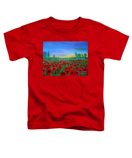 Poppy Field At Sunset Toddler T-Shirt