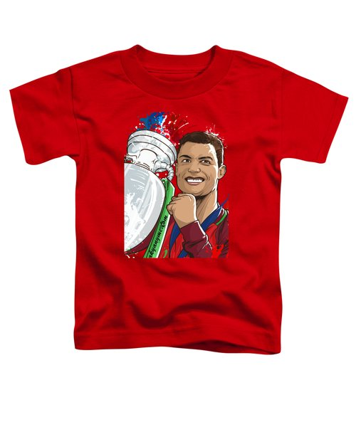 Portugal Campeoes Da Europa Toddler T-Shirt by Akyanyme