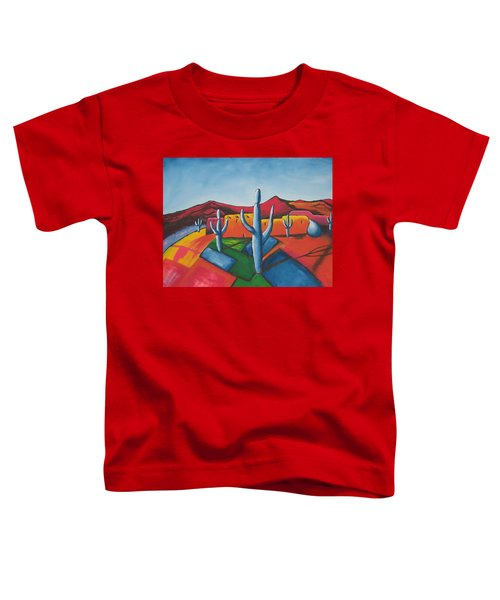 Toddler T-Shirt featuring the painting Pueblo by Antonio Romero