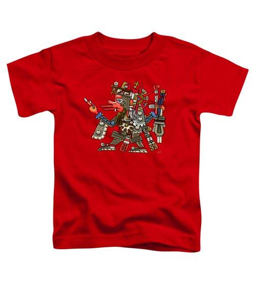 Quetzalcoatl In Human Warrior Form - Codex Borgia Toddler T-Shirt by Serge Averbukh