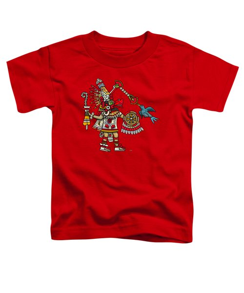 Quetzalcoatl In Human Warrior Form - Codex Magliabechiano Toddler T-Shirt by Serge Averbukh