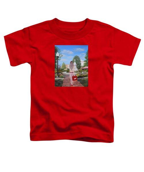 Razorback Swagger At Bentonville Square Toddler T-Shirt