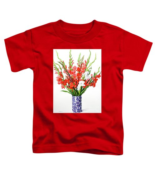 Red And White Gladioli Toddler T-Shirt