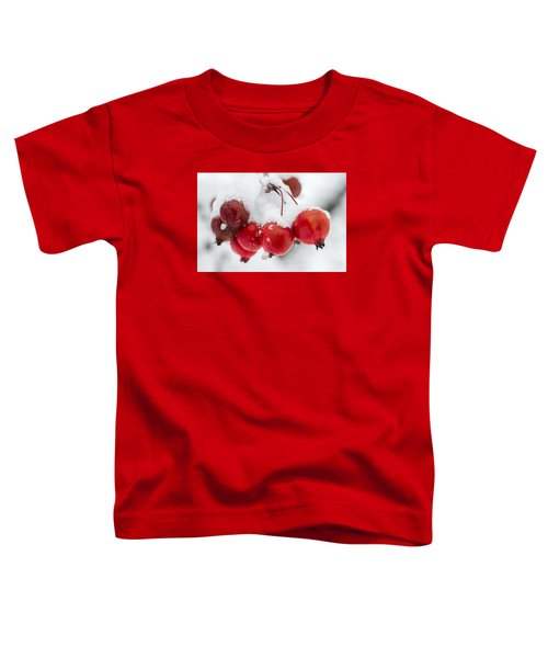 Toddler T-Shirt featuring the photograph Red And White by Sebastian Musial