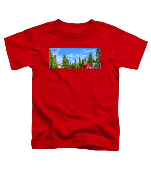 Red Barn On A Hill Toddler T-Shirt