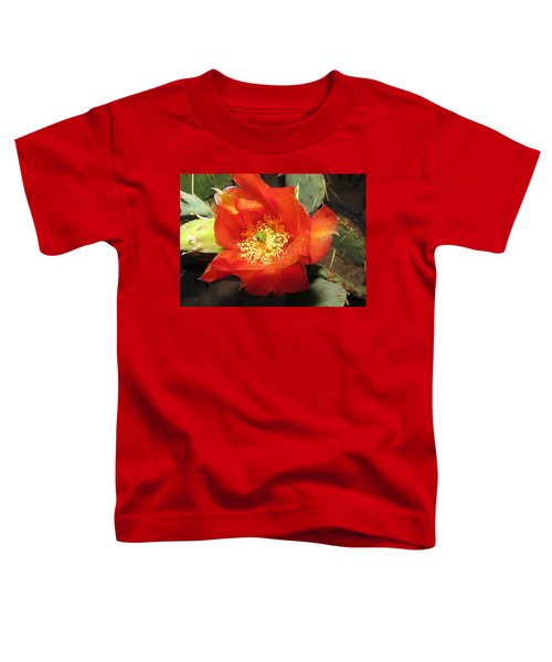 Red Bloom 1 - Prickly Pear Cactus Toddler T-Shirt
