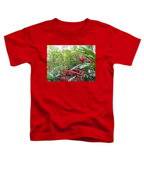 Red Bridge Toddler T-Shirt by Teresa Wing