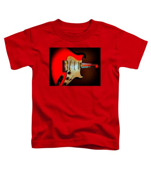 Red Burst Stratocaster Glow Neck Series Toddler T-Shirt