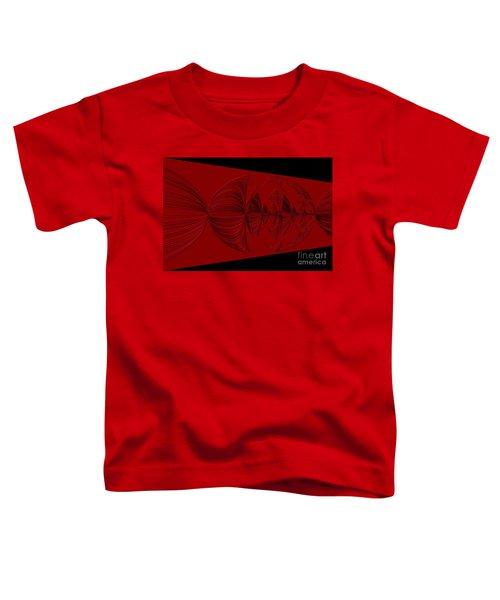 Red And Black Design. Art Toddler T-Shirt