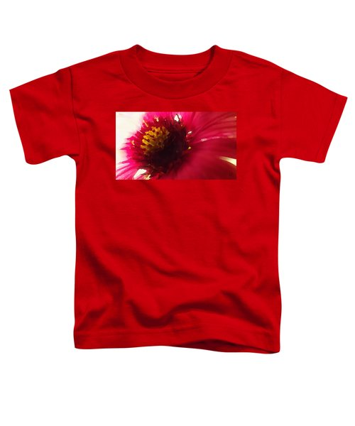 Red Flower Abstract Toddler T-Shirt