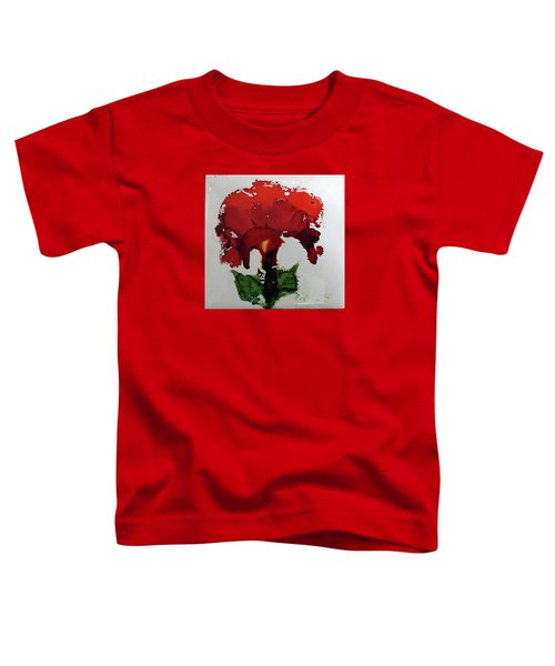 Red Flower Toddler T-Shirt