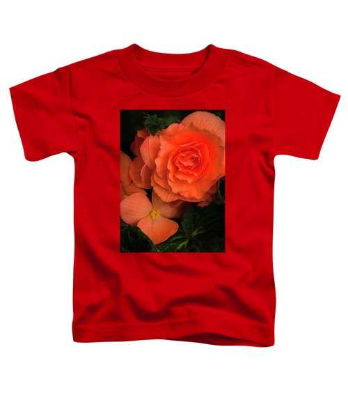 Red Giant Begonia Ruffle Form Toddler T-Shirt