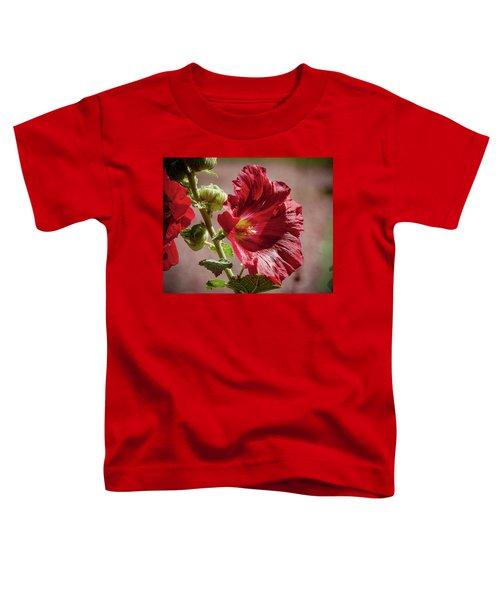 Red Hollyhocks Toddler T-Shirt