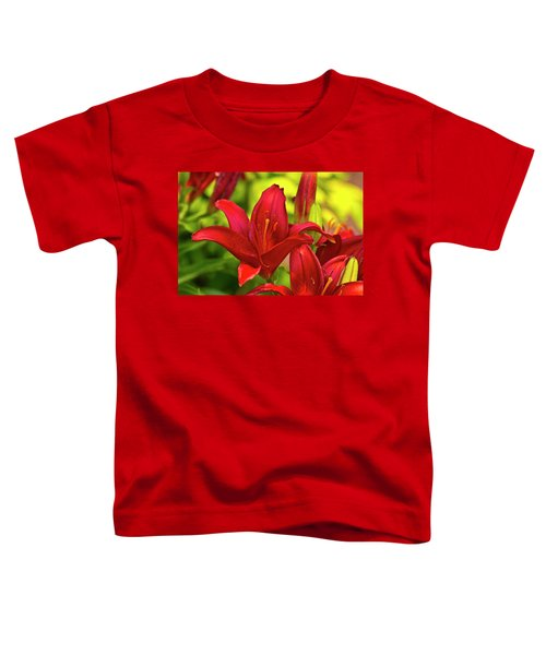 Toddler T-Shirt featuring the photograph Red Lily by Bill Barber