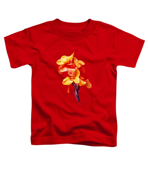 Red Orange Canna Blossom Cutout Toddler T-Shirt
