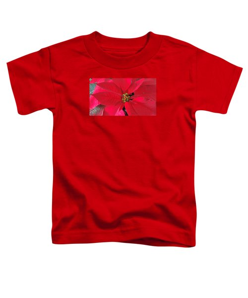 Red Poinsettia Toddler T-Shirt