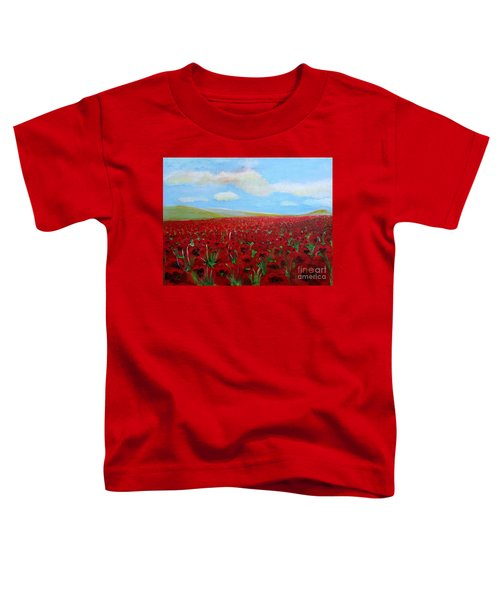 Red Poppies In Remembrance Toddler T-Shirt