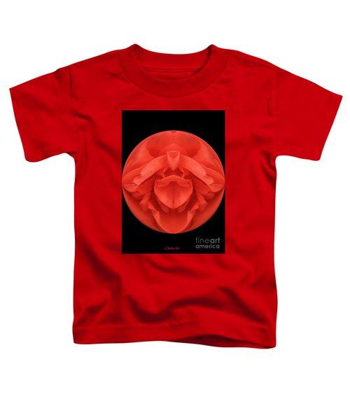 Red Rose Sphere Toddler T-Shirt