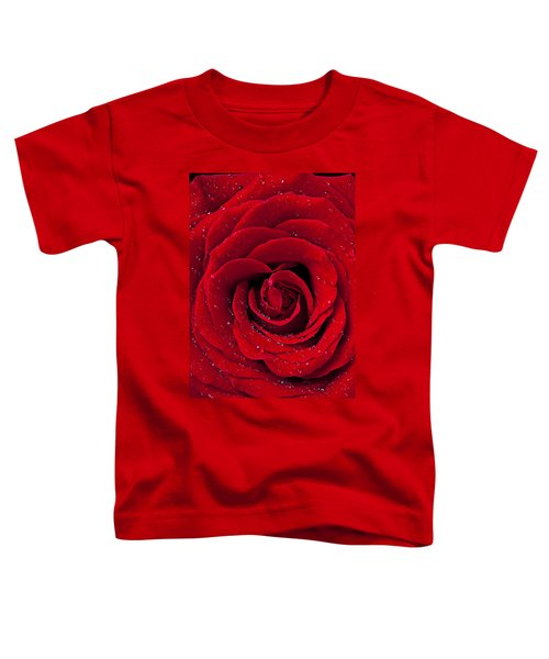 Red Rose With Dew Toddler T-Shirt