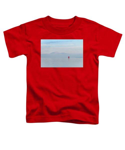 Red Sailboat On Lake Toddler T-Shirt