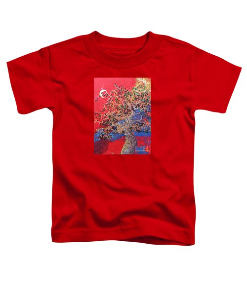 Red Sky And Tree Toddler T-Shirt
