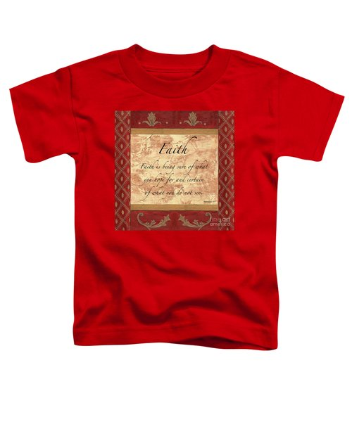 Red Traditional Faith Toddler T-Shirt