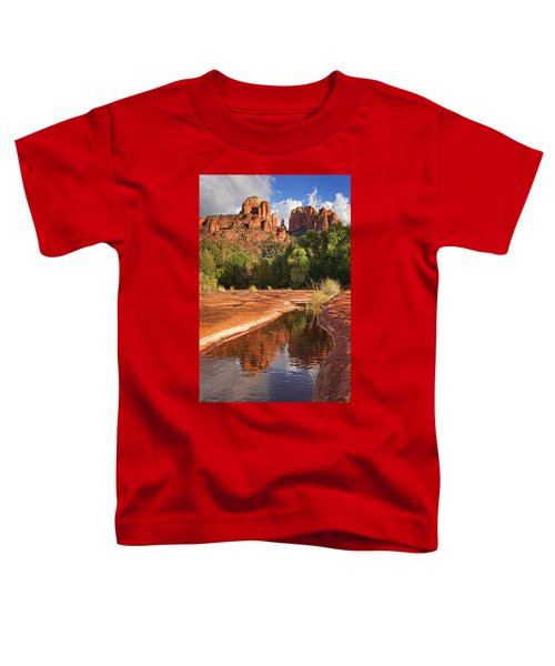 Reflections Of Cathedral Rock Toddler T-Shirt