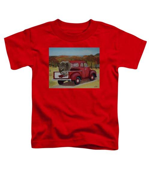 Ridin' With Razorbacks Toddler T-Shirt by Belinda Nagy