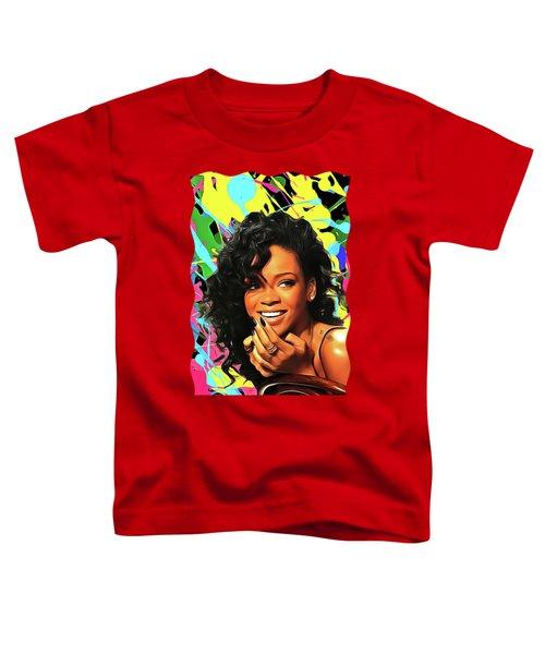 Rihanna - Celebrity Art Toddler T-Shirt