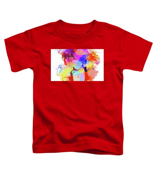 Rihanna Paint Splatter Toddler T-Shirt by Dan Sproul