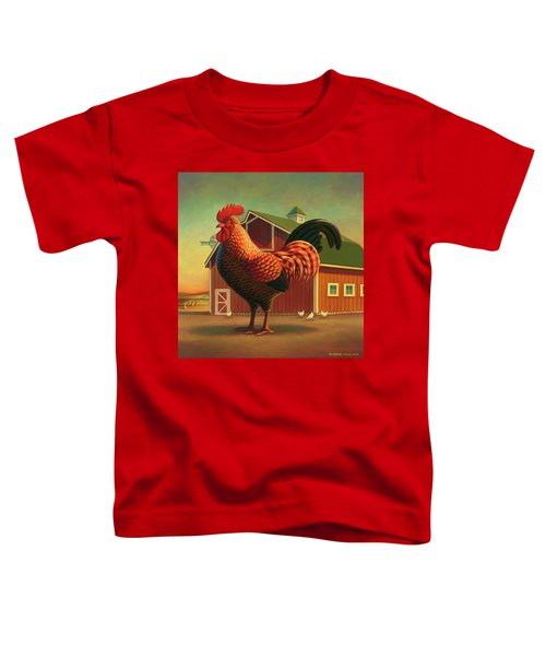 Rooster And The Barn Toddler T-Shirt
