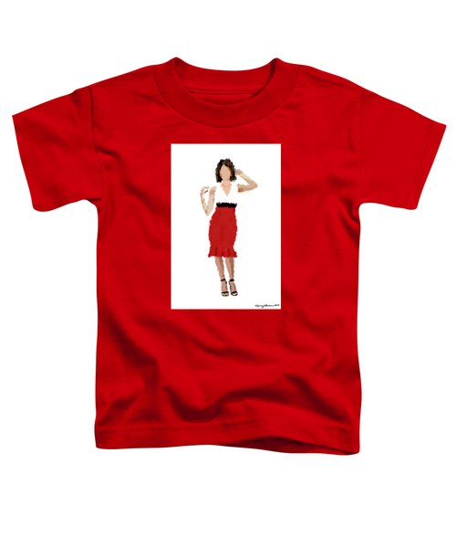 Toddler T-Shirt featuring the digital art Ruby by Nancy Levan