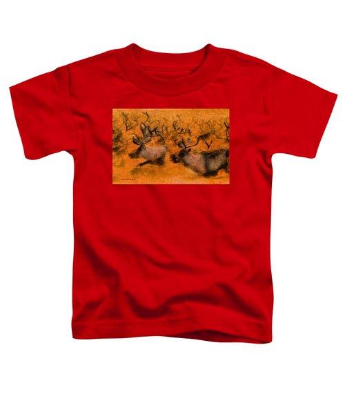 Running Deers Orange - Da Toddler T-Shirt