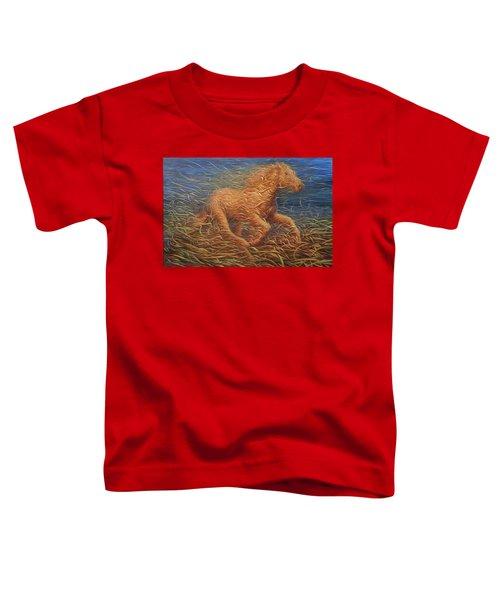 Running Swirly Horse Toddler T-Shirt