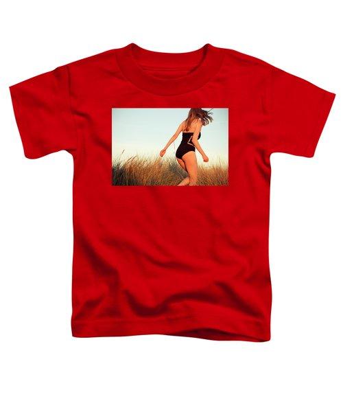 Running Unsharp In The Golden Hour Toddler T-Shirt
