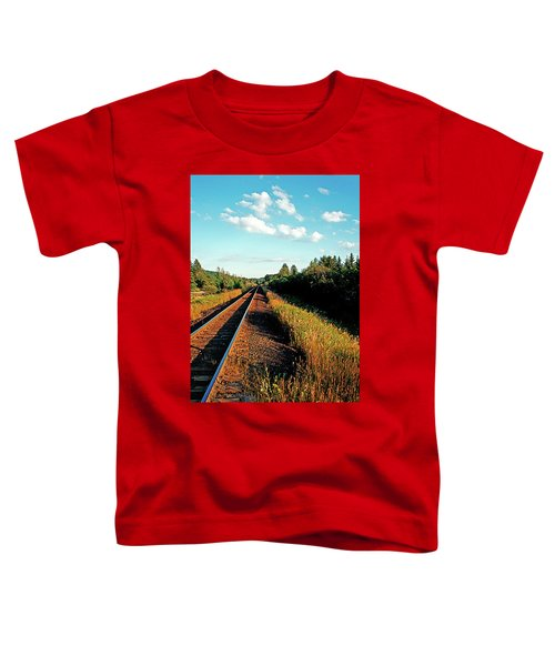 Rural Country Side Train Tracks Toddler T-Shirt